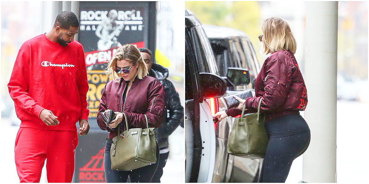PHOTOS | October 30, 2017 – Khloe and Tristan out in Cleveland