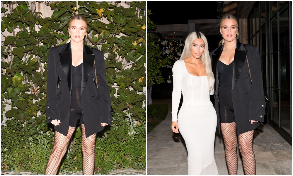 PHOTOS | November 14, 2017 – Khloe Kardashian at Kim Kardashian's launch party for KKW fragrance