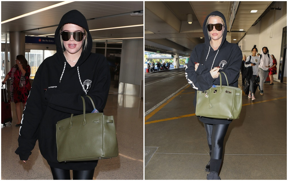 PHOTOS | November 28, 2017 – Khloe Kardashian  arrives back to Lax from Cleveland