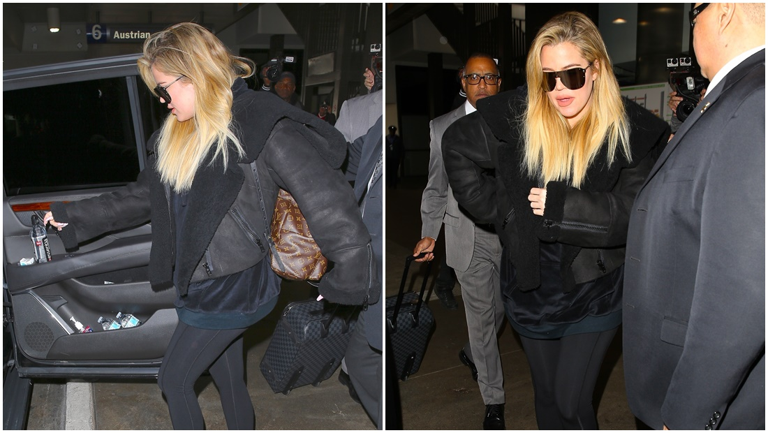 PHOTOS & VIDEOS | December 23, 2017 – Khloe Kardashian arrives at Lax airport in Los Angeles
