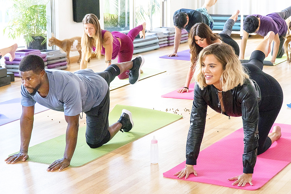 (VIDEO + PHOTOS) What the fit : Goat Yoga with Khloé Kardashian | Kevin Hart: What The Fit Episode 4