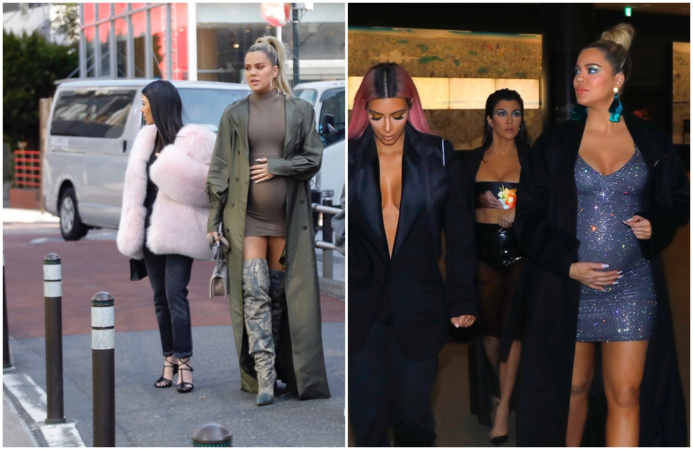 (PHOTOS) February 27, 2018: Khloe, Kim and Kourtney out in Tokyo, Japan