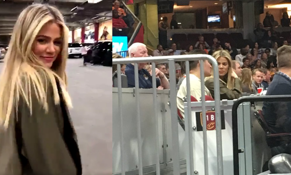 PHOTOS + VIDEO | March 23, 2018 – Khloe Kardashian at Cavs game in Cleveland