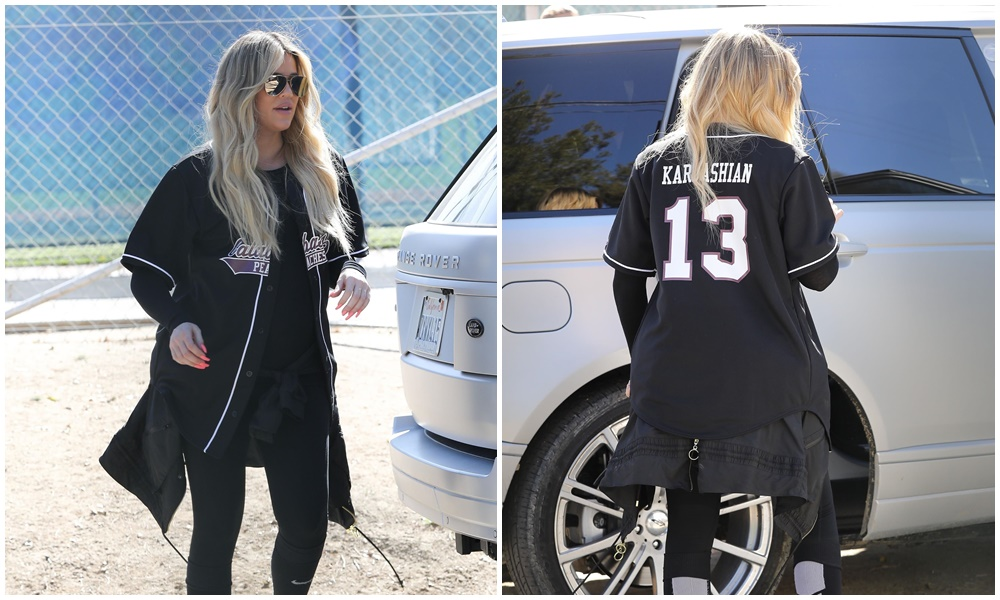 (PHOTOS+VIDEOS) March 09, 2018: Khloé Kardashian Joins Her Sisters on the Baseball Field in Los Angeles