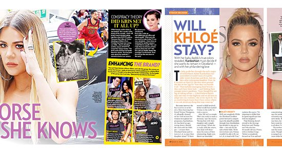 Khloé In This Week's Tabloids