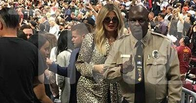 PHOTOS | May 05, 2018 – Khloe Kardashian at Cavs game in Cleveland