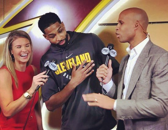 Tristan Thompson talks about her daughter's True and son Prince:  « She has a full head of hair. She has green eye »