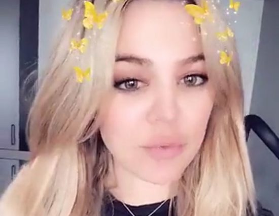 SNAPCHAT | May 12, 2018 | Khloé Kardashian at home in Cleveland