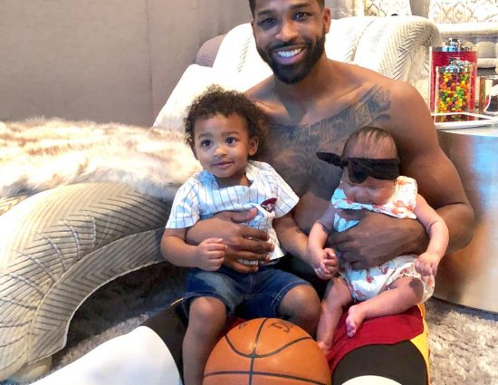 Tristan Thompson Just Shared His First Photo With Baby True and son Prince