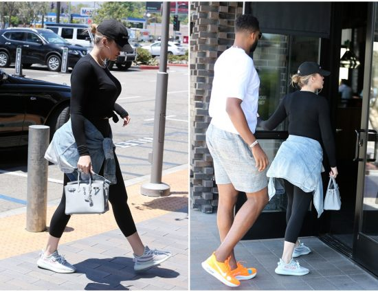(PHOTOS) June 20, 2018: Khloé Kardashian & Tristan Thompson lunch at Joey