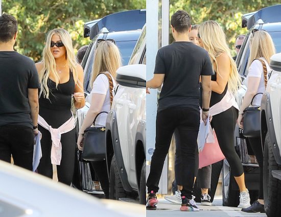 (PHOTOS+VIDEO) July 06, 2018: Khloé Kardashian on the set Good American
