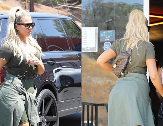 (PHOTOS+VIDEOS) July 17, 2018: Khloé Kardashian at a bowling alley in Woodland Hills