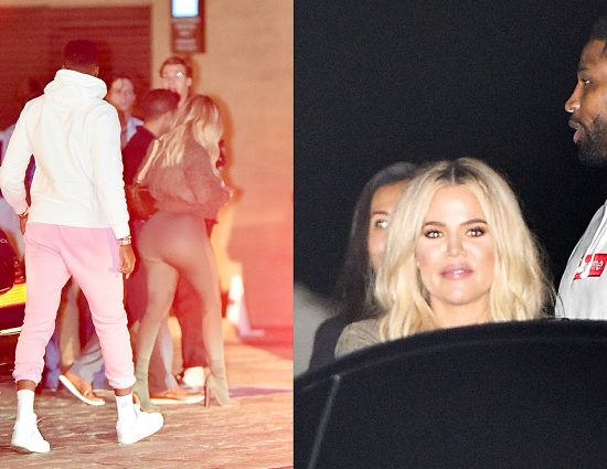 (PHOTOS+VIDEO) July 09, 2018: Khloé & Tristan dinner at Nobu