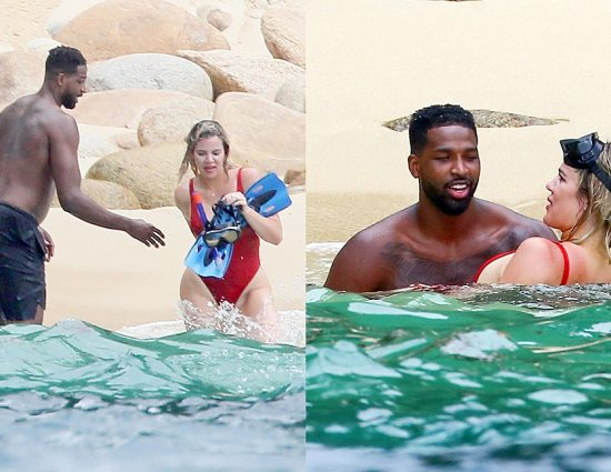 (PHOTOS) August 14, 2018: Khloe Kardashian on the beach in Punta Mita, Mexico
