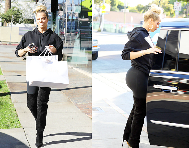 PHOTOS & VIDEO – November 14, 2018: Khloé Kardashian shopping at Couture Kids