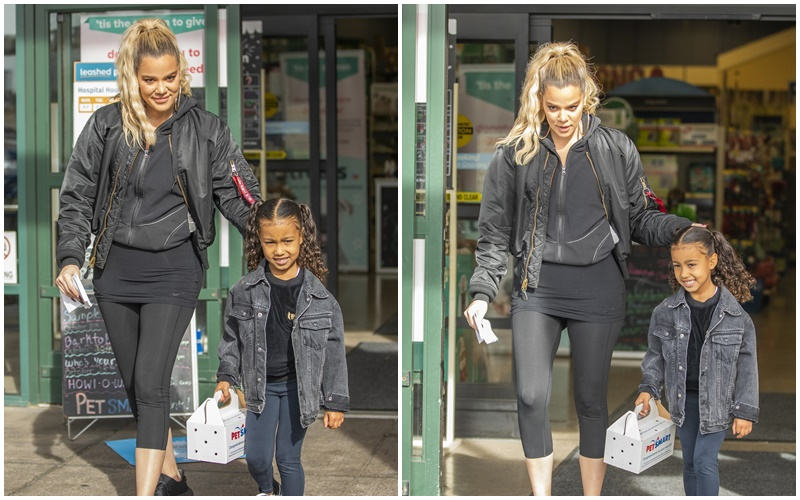 (PHOTOS+VIDEO) November 29, 2018: Khloe Kardashian takes North West to buy a furry pet