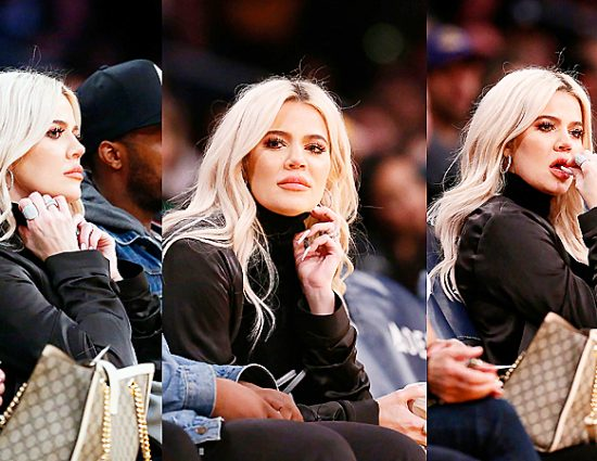 (PHOTOS) January 13, 2018: Khloé Kardashian at NBA game