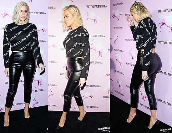(PHOTOS+VIDEO) February 20, 2019: Khloe Kardashian attends the PrettyLittleThing LA Office Opening Party