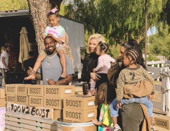 PHOTOS & VIDEO: Kanye West and Fam Set up YEEZY Lemonade Stand for Charity