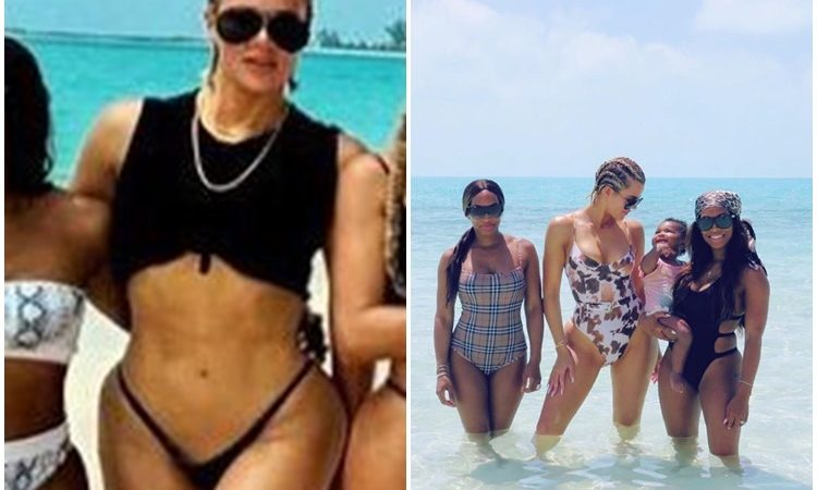 PHOTOS & VIDEO: Khloé Kardashian on a beach in Turks and Caicos Island