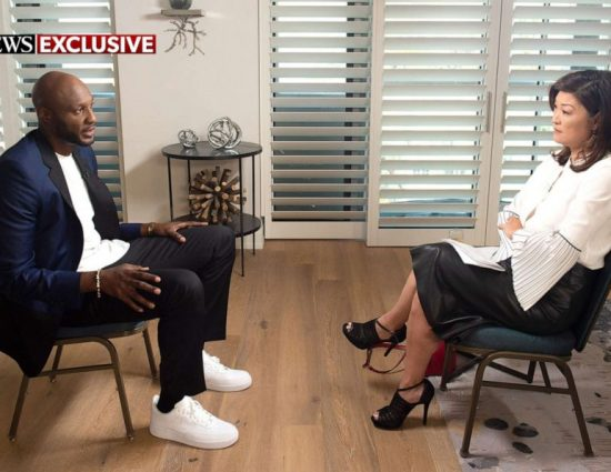 (VIDEO) ABC NEWS: Lamar Odom talks about threatened to kill Khloé Kardashian while on high drugs and about she refuses sex with him