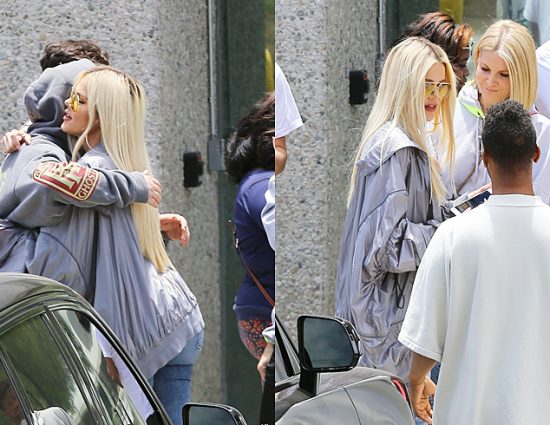 (PHOTOS+VIDEO) June 16, 2019: Khloé Kardashian headed to Kanye West's weekly Sunday Service