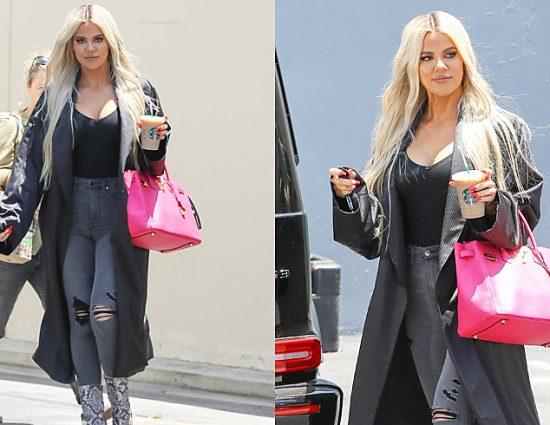 (PHOTOS+VIDEO) June 17, 2019: Khloé Kardashian leaving the Independence Studio in Woodland Hills