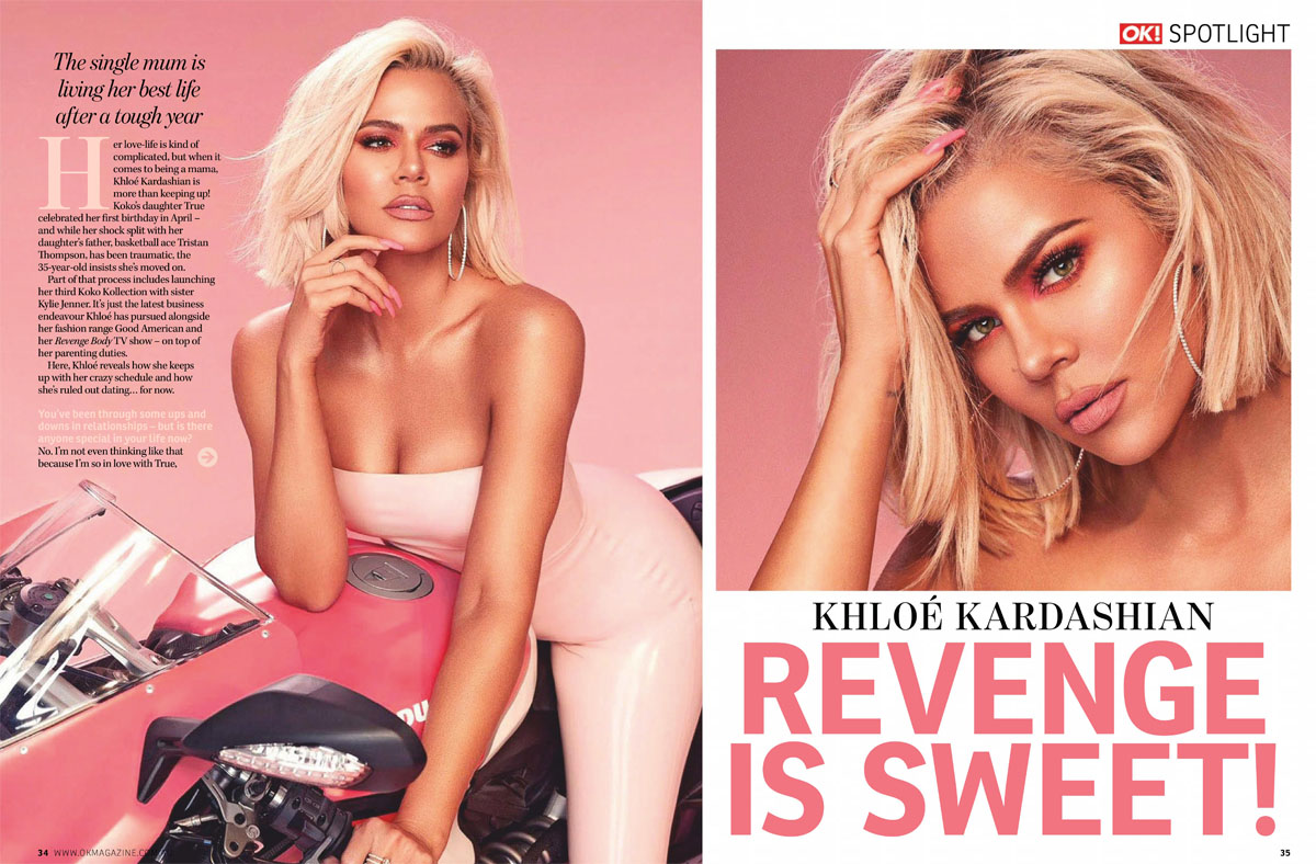 "Khloé Kardashian talks with Ok! Magazine Australia: ""Revenge is sweet"""