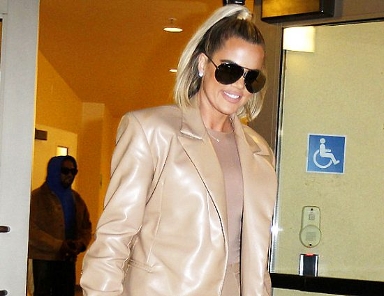 (PHOTOS & VIDEOS) February 19: Khloé Kardashian Grabs Dinner With Kim & Kourtney After Filming 'My Next Guest' For Netflix