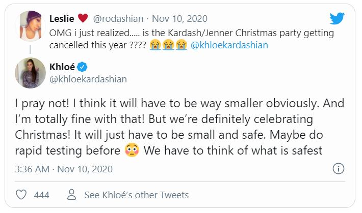 Khloe Kardashian Fansite khloe-tweet-christmas-party Khloe Kardashian says family definitely celebrating Christmas with 'smaller' party